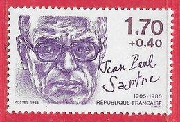 France N°2357a 1,70F + 40c Variété (point Sur Le I De FRANCAISE) 1985 ** - Varietà: 1980-89 Nuovi