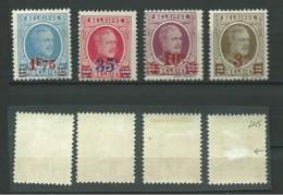 BELGIQUE: *, N°YT 245 à 248, Série, N°245 Aminci, TB - 1922-1927 Houyoux