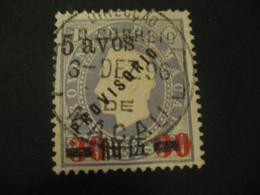 5 Avos O.p. 30 O.p. 200 Reis MACAU 1895 Yvert 69 (Cat. Year 2008: 90 Eur) Stamp Macao Portugal China Area - Macao