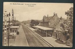 UCCLE UKKEL. Calevoet. Le Quai Et Intérieur De La Gare. Chemin De Fer. - Ukkel - Uccle