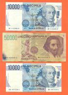 Lot De 3 Billets De La Banque D'italie 70 000 Lires - Coins & Banknotes