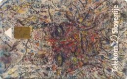 SLOVENIA SCHEDA TELEFONICA  Tony Lydon, Glasgow - Galerija Keleia / Emona Merkur - Telefonkarten