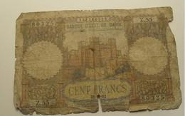 1952 - Maroc - Morocco - 100 FRANCS, Forteresse - 22-12-52, 137380325  Z.55 - Marokko