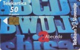 SLOVENIA SCHEDA TELEFONICA  Abeceda - Alphabet / Intrade - Schede Telefoniche