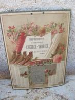 Calendrier De 1896 En Carton Très épais - Imprimerie EHKIRCH - SERRIER à REMIREMENT. 88 - Voir Les 11 Photos & Scannes - Calendriers