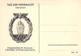 Kriegsabzeichen Für Minensuch-,U-Bootjäger Und ..... Auf Postkarte - Weltkrieg 1939-45