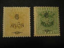MACAU 1902 Yvert 100/1 O.p. 6 Avos (Cat. Year 2008: 35 Eur) Macao Portugal China Area - Macao