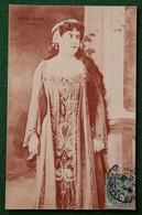 Carte Postale Ancienne ACTRICE  Agnès BORGO (opéra)  Cachet Nuits Sur Armançon 1906 ? - Other