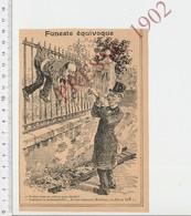 Presse 1902 Humour Surdité Cornet Acoustique   223CHV1 - Alte Papiere