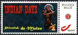 Belgie - Priveclub De Molen - Indian Days - Private Stamps