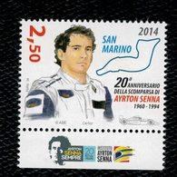 San Marino 2014 20° Anniv. Della Morte Di Ayrton Senna 1v Complete Set ** MNH - San Marino
