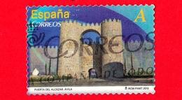 SPAGNA - Usato - 2013 - Archi - Monumenti - Puerta Del Alcazar De Avila - A - 2011-... Usati