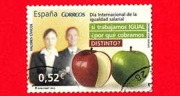 SPAGNA - Usato - 2013 - Valori Civili - Giorno Di Parità Di Retribuzione - Mela - 0.52 - 2011-... Usati