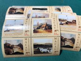 MACAU 1994 GEORGE CHINNERY PAINTINGS OF MACAU OLD VIEWS SET OF 4 - Macao