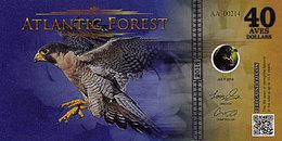 ATLANTIC FOREST 40 AVES DOLLARS Juillet 2018 UNC Faucon Pelerin - Fictifs & Spécimens