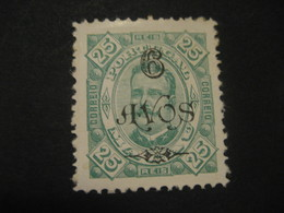 6 Avos O.p. 25 Reis MACAU 1902 Yvert 114 (Perf. 11 1/2 Cat. Year 2008: 8 Eur) Stamp Macao Portugal China Area - Macao