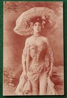 Carte Postale Ancienne ACTRICE  Paulette - De L'Eldorado - Cachet Nuits Sur Armançon 1906 - Autres