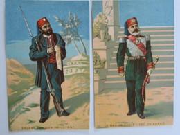 CH -  2  Chromos - Nouveautes - HUGUET - BOINET - AMIENS - Le Vay De Tinis Et Soldat Tunisien - Autres