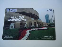 CHINA USED CARDS  SHANGHAI MONUMENTS - Chine