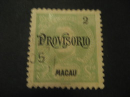 2 Avos MACAU 1902 Provisorio O.p. Yvert 124 (Cat. Year 2008: 5 Eur) Stamp Macao Portugal China Area - Macao