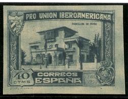 Edifil 575s** Mnh  Sin Dentar 40 Ctos. Azul    Unión Ibero Americana  1930  NL313 - Unused Stamps