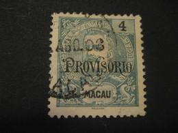 4 Avos MACAU 1902 Provisorio O.p. Yvert 125 (Cat. Year 2008: 13 Eur) Stamp Macao Portugal China Area - Macao