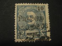 10 Avos MACAU 1902 Provisorio O.p. Yvert 127 (Cat. Year 2008: 12 Eur) Stamp Macao Portugal China Area - Macao