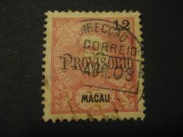 12 Avos MACAU 1902 Provisorio O.p. Yvert 128 (Cat. Year 2008: 28 Eur) Stamp Macao Portugal China Area - Macao
