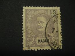 13 Avos MACAU 1903/5 Yvert 136 (Cat. Year 2008: 9 Eur) Stamp Macao Portugal China Area - Macau
