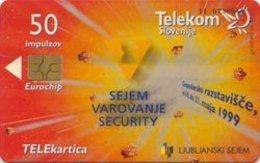 SLOVENIA SCHEDA TELEFONICA  Sejem Varovanje Security / Ultranet - Schede Telefoniche
