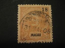 18 Avos MACAU 1903/5 Yvert 137 (Cat. Year 2008: 16 Eur) Stamp Macao Portugal China Area - Macau