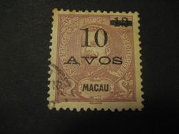 10 O.p. 12 Avos MACAU 1905 Yvert 140 (Cat. Year 2008: 14 Eur) Stamp Macao Portugal China Area - Macao