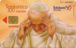 SLOVENIA SCHEDA TELEFONICA  Papež / Idrijska Čipka - PAPA WOJTYLA - Schede Telefoniche