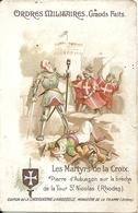 Chromos Chocolat Aiguebelle Série Ordres Militaires Grands Faits Martyrs De La Croix Pierre D' Aubusson à Rhodes - Aiguebelle