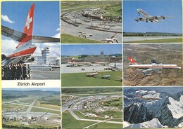 Tematica- Aeroporti - 1971 - Missed Stamp - Zürich Airport - Multivues - Viaggiata Da ???? Per Brugge, Belgium - Aerodromi