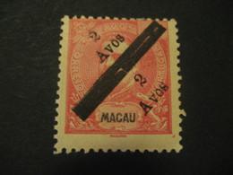 2 Avos + 2 Avos O.p. MACAU 1911 Yvert 147 (Cat Year 2008: 70 Eur) Stamp Macao Portugal China Area - Macao