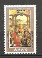 NEVIS - 2002 DOMENICO GHIRLANDAIO Adorazione Dei Re Magi (Spedale Degli Innocenti, Firenze) Nuovo** MNH - Religieux