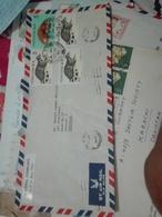 Hong Kong Air Mail Cover To Pakistan (Red-2187) - Hong Kong (1997-...)