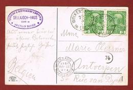 Postkarte Sellajoch Haus  D O A V Sektion Bozen 1913 ; 2 Scan - Cartas