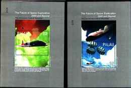 72275) SOLE  PALAU-2000-BLOCCO N. 111-112 ** - Settori Aerospaziale/Space-2 BF. MNH** - Francobolli
