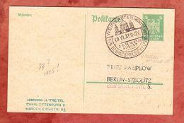 P 156 Adler, SoSt Heimatspiel Welfensage Weingarten, Datumsfehler 1937 Statt 1925, Nach Berlin (57962) - Germany