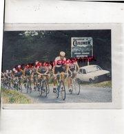 19- CORREZE- BIENVENUE A CHAUMEIL- TOUR DES MONEDIERES- CYCLISME 1987- RARE PHOTO ORIGINALE - Ciclismo