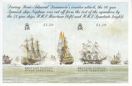 2005 British Indian Ocean Territory Battle Of Trafalgar Ships Navy  Souvenir Sheet  MNH - British Indian Ocean Territory (BIOT)