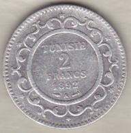 PROTECTORAT FRANCAIS. 2 FRANCS 1892 (AH 1309) Paris ALI BEY  En Argent - Tunisie