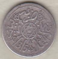 Maroc . 1 Dirham (1/10 RIAL) AH 1315 Paris . Abdül Aziz I , En Argent - Maroc