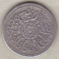 Maroc . 1 Dirham (1/10 RIAL) AH 1315 Paris . Abdül Aziz I , En Argent - Marokko