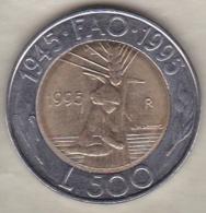 San Marino 500 Lire 1995 .50 éme Anniversaire F.A.O. Bimétallique - Saint-Marin