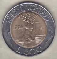 San Marino 500 Lire 1995 .50 éme Anniversaire F.A.O. Bimétallique - San Marino