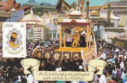 1996 Brunei Sultan's Birthday Royalty Souvenir Sheet  MNH - Brunei (1984-...)