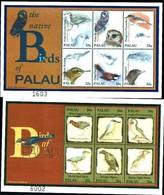 72277) SOLE  PALAU-2000- Uccelli Di Palau Fogli 2 -- Sg 1611/22 -2 BF. MNH** - Francobolli
